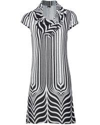 Dorothy Perkins Izabel London Grey Sleeveless Dress in Gray - Lyst 3038d0204