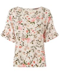 Dorothy Perkins - Blush Slouch Floral Top - Lyst
