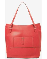 Dorothy Perkins - Red Hardware Detail Shopper Bag - Lyst