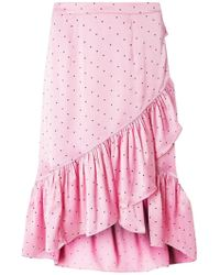 Dorothy Perkins - Vero Moda Multi Coloured Satin Spotted Skirt - Lyst