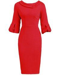 Dorothy Perkins Jolie Moi Red Bell Sleeve Bodycon Dress PKoIbrXzh