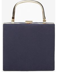 Dorothy Perkins - Navy Frame Top Handle Clutch Bag - Lyst