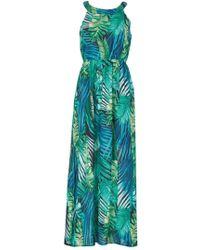 Dorothy Perkins - Tenki Green Tropical Maxi Dress - Lyst