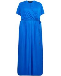64fb1850e012 Dorothy Perkins Dp Curve Cobalt Jersey Maxi Dress in Blue - Lyst