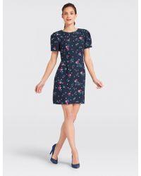 Draper James - Bouquet Dot Floral Structured Sleeve Dress - Lyst