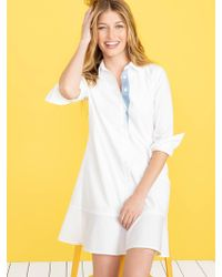 a2fc3ba7a74 Lyst - Draper James Chambray Tulip Shirtdress in Blue - Save 15%