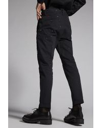 DSquared² - Cotton Chino Hockney Pants With Patch Details - Lyst
