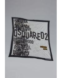 DSquared² - Disco Punk Silk & Woven Foulard - Lyst