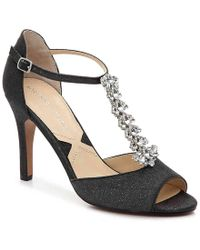cf2049aa0153 Lyst - Ferragamo Gina Python-embossed Leather Platform Sandals in ...