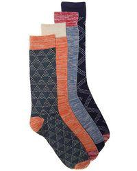 Lucky Brand - Dotted Tile Dress Socks - Lyst