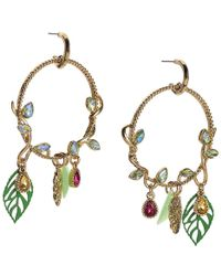 Betsey Johnson - Vine Hoop Earrings - Lyst