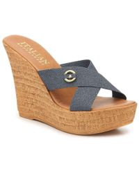 Italian Shoemakers - Selina Wedge Sandal - Lyst
