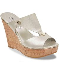 Guess - Sheley Wedge Sandal - Lyst