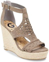 G by Guess - Makayla Wedge Sandal - Lyst