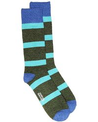 Unsimply Stitched - Thick Sailor Stripe Boot Socks - Lyst