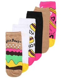 Betsey Johnson - Burger No Show Socks - Lyst