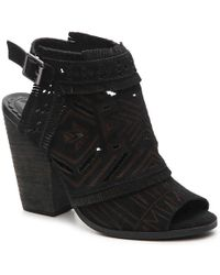 4d670373ddc6d Lyst - Naughty Monkey Ms. Kali Cutout Leather Mule in Brown