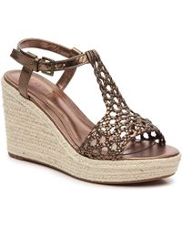 Lauren by Ralph Lauren - Hailey Wedge Sandal - Lyst