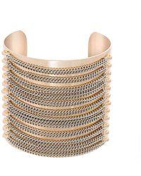 Steve Madden - Chain Cuff Bracelet - Lyst