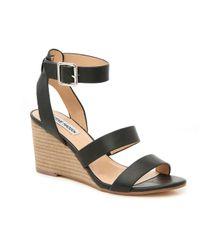 d16d4f7af4f Lyst - Steve Madden Bodhi Platform Ankle Strap Sandal in Black
