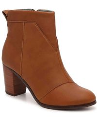 587947f3384 Lyst - Toms Lunata Bootie (desert Taupe Suede Perforated) Women s ...