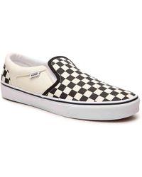 Vans - Asher Checkered Slip-on Sneaker - Lyst