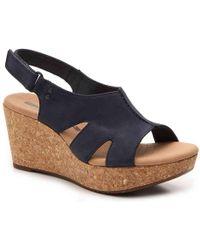 Clarks - Annadel Bari Wedge Sandal - Lyst