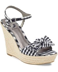 G by Guess - Dalina Wedge Sandal - Lyst