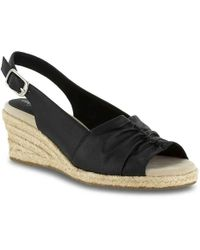 c3f3a4c8834 Easy Street - Kindly Espadrille Wedge Sandal - Lyst