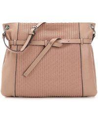 Perlina - Shine Ii Leather Crossbody Bag - Lyst