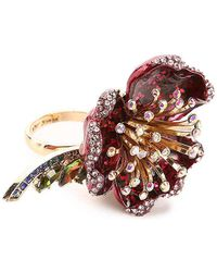 Betsey Johnson - Flower Ring - Lyst