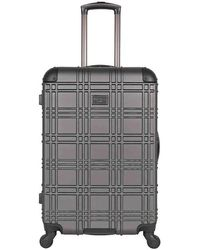 Ben Sherman - Embossed 24-inch Checked Hard Shell Luggage - Lyst