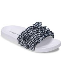 Dearfoams - Ruffled Slide Slipper - Lyst