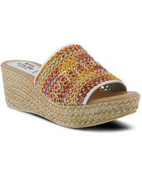 Spring Step - Calci Wedge Sandal - Lyst