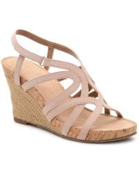Aerosoles - Lux Plush Wedge Sandal - Lyst