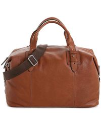 Lyst - Cole Haan Leather-trim Canvas Duffle Bag in Black for Men 48615fd9b6698