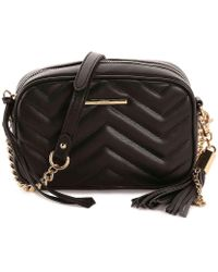 4dc35a3287e Lyst - ALDO Kaoedien Quilted Faux-leather Cross-body in Black