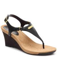 da56b4e858a Lyst - Lauren By Ralph Lauren Womens Chrissie Leather Open Toe ...