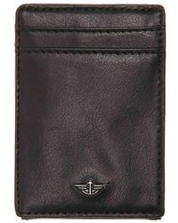 Dockers - Wide Magnetic Front Leather Card Case Wallet - Lyst