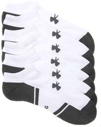 e02af8d7f958 Under Armour Men's Ua Resistor Iii No Show Socks 6-pack in White for ...