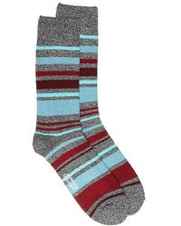Unsimply Stitched - Penta Color Stripe Boot Socks - Lyst