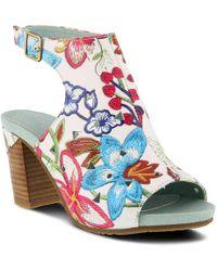 Spring Step - Tapestry Sandal - Lyst