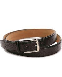 Cole Haan - Croco Leather Belt - Lyst