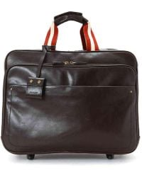 Bally - Leather Rolling Travel Bag - Lyst