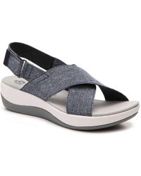 e9eaba658b14 Lyst - Clarks Cloudsteppers Arla Elin Sandals 6 in Blue