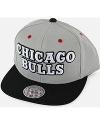 53ea12778da Lyst - Mitchell   Ness Chicago Bulls Rainy Day Pinch Strapback Hat ...