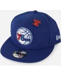 37b10bec9571a Lyst - Ktz Nba Philadelphia 76es Team Deluxe 950 Snapback Hat in ...