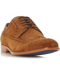 Dune   Piped Edge Brogue Shoe   Lyst