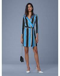 Diane von Furstenberg - Julian Silk Jersey Mini Wrap Dress - Lyst