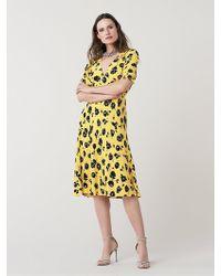 Diane von Furstenberg - Jemma Cinch Sleeve Midi Dress - Lyst